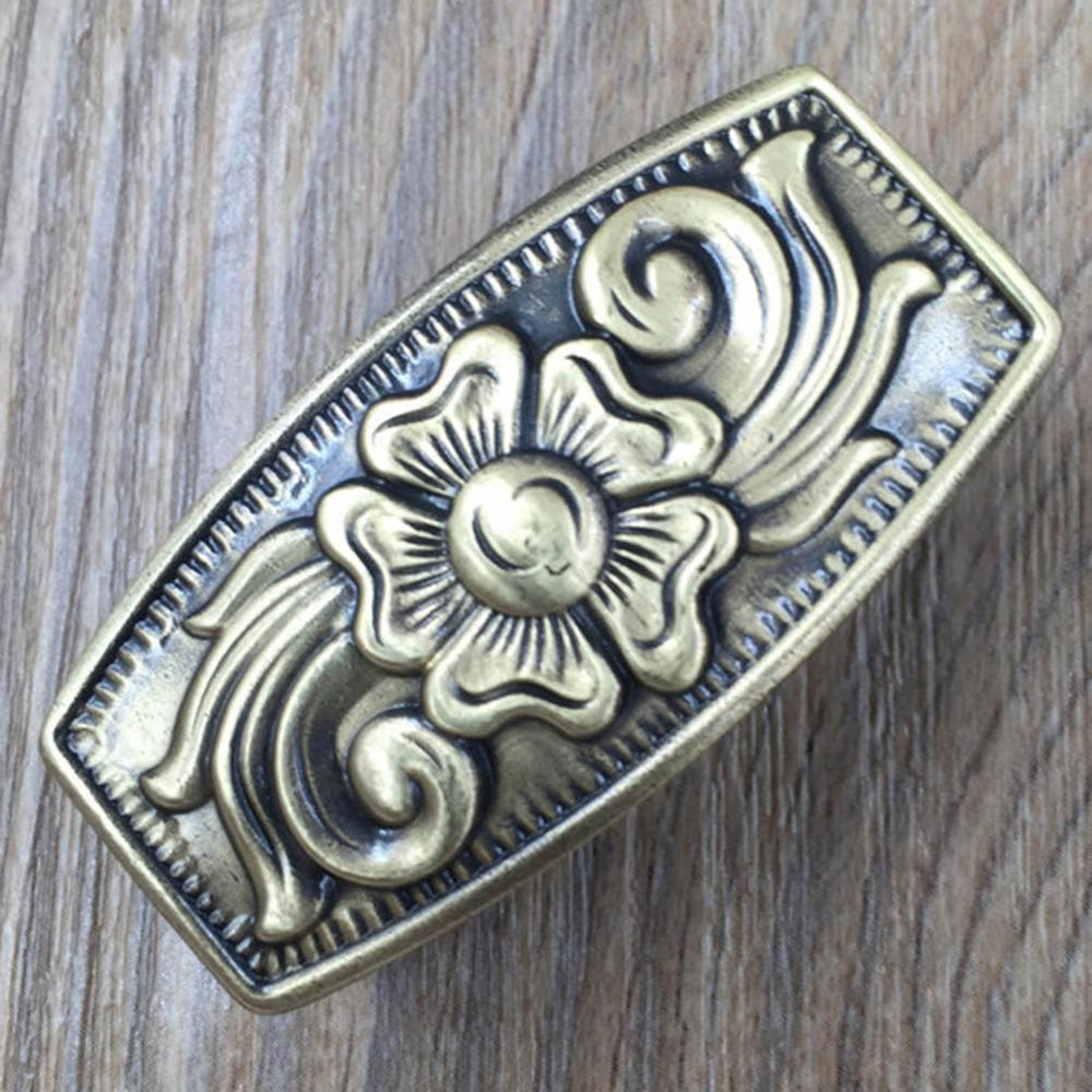 CUKUP Animal Pattern Design Solid Brass Loop for Men's Brass Belt Buckle Loop Keeper DIY Craft Hardware Metal Accessories BRK005