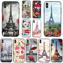 Protective Paris France Eiffel tower Phone Cover for iPhone 8 Plus Case 6 6S XR Xs Max X 7 5S 5 SE Covers Back eiffel tower pattern plastic back case for samsung i9500 light green