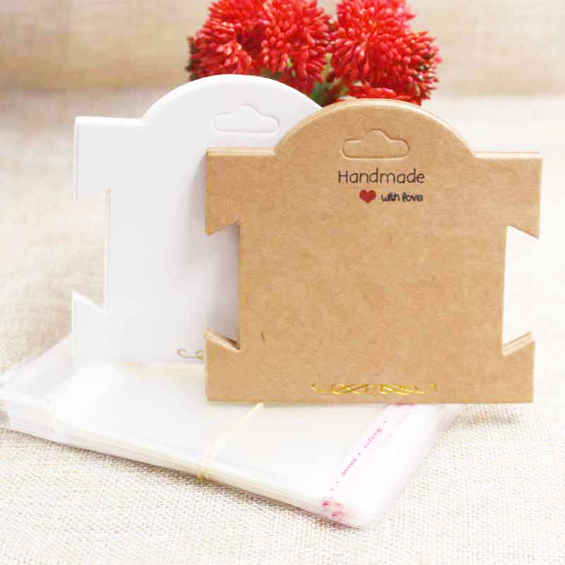 Zerong Gold Foil Jewelry Package & Display Card,DIY Handmade Earring Tag Card,hair Clip /bracelet  Tag Card 100pcs+100 Oppbags