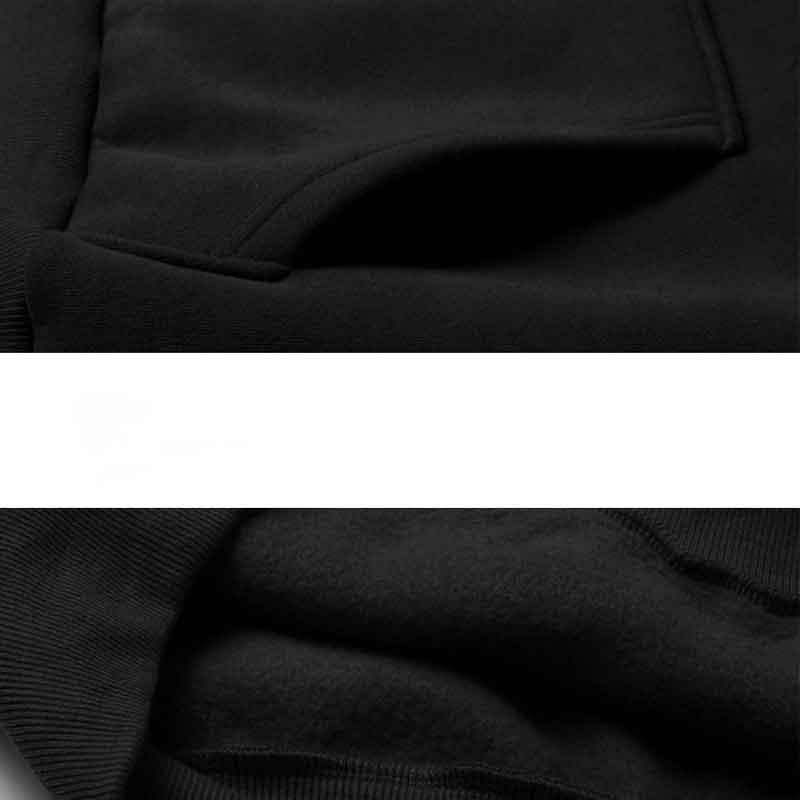 Hoodies Suelta Moda Capa Polar De Rock Negro Cuello Black Capucha Abrigo Pullover Sudadera Jersey Caliente Casual Shooter Manga Con Redondo Completa Tops 5qHBqvr