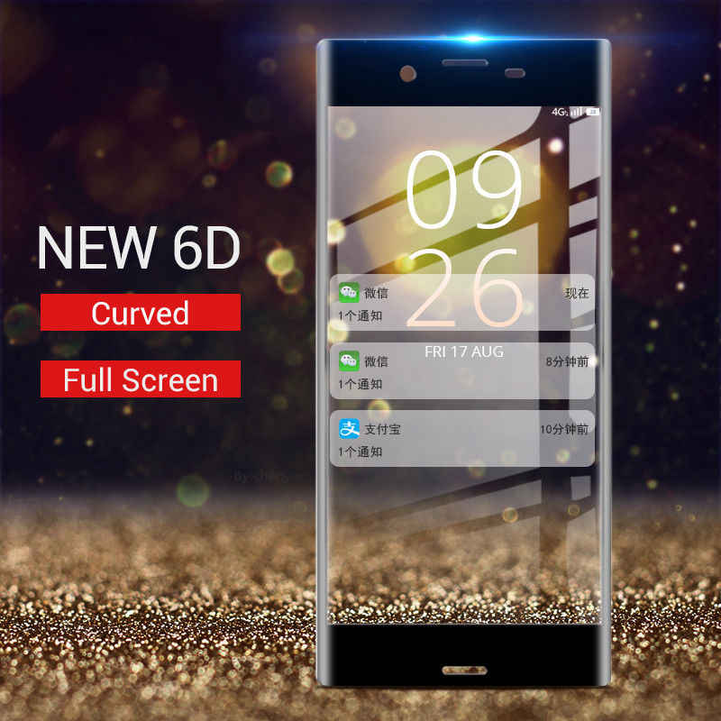 NOWAL 6D フルカバレッジ保護スクリーン Flim ガラスソニーの Xperia XZ3 XZ2 プレミアム XZ XZS XZ1 コンパクト XA XA1 プラス XA2 超