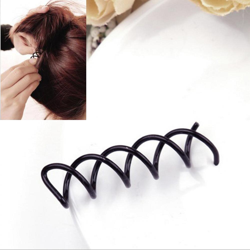 10 шт. стильный элегантный для женщин Спираль Спин Винт Бобби шпильки миловидный зажим для волос витой заколка хороший женский головной Убор