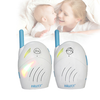 2015 New Style Wireless Digital Audio Baby Monitor Kit Portable 2 Way LED Indicate Baby Nanny