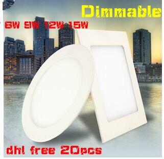 DHL GRATIS Redondo Panel de Luz LED Downlight Regulable 3W 4W 6W 9W - Iluminación LED - foto 2