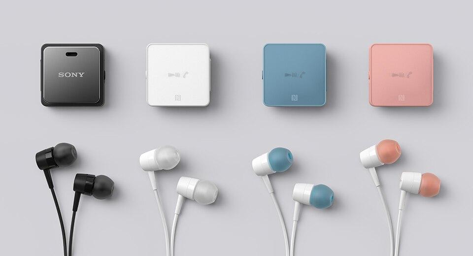 Fone de Ouvido sem Fio Sony Estéreo Bluetooth Colar Clipe Fone Nfc Frete Grátis Sbh24