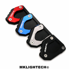 Motorcycle For BMW G310R G 310R G310 R 2017-2018  CNC Kickstand Side Stand Enlarger Extension Plate Pad цена