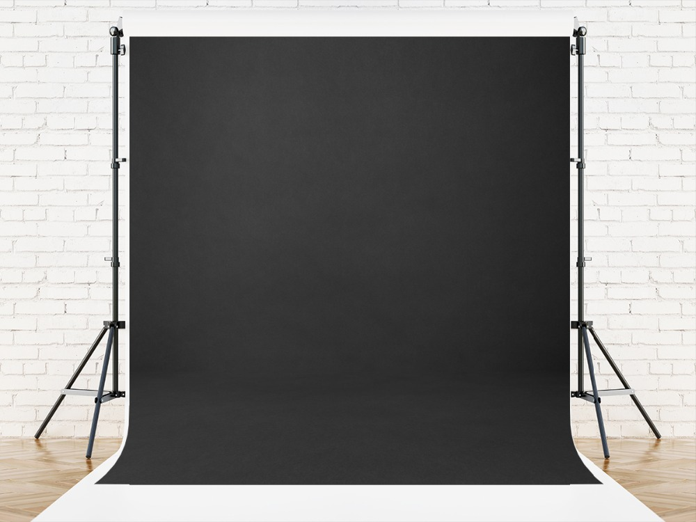 Image 2 - VinylBDS 8x8ft Black Solid Color Photography Backdrop Abstract  Backgrounds For Photo Studio Portraits Custom Camera  FotograficaBackground