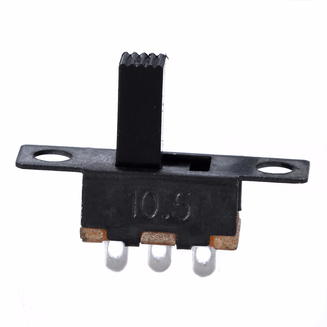 10Pcs/Set Miniature Switch 100V 2A SPDT ON/Off Miniature Slide Switch Electronic Component DIY Power Switches Black