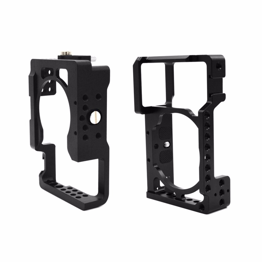 Aluminum Alloy Camera Cage Protective Camera Frame for Sony A6500 ILDC Camera Video Camera Cage to Mount Tripod Light цена