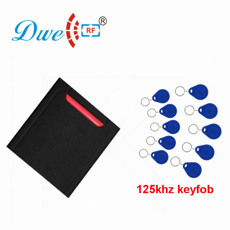 DWE CC RF Access Control Card Reader PVC Proximity 125khz or 13.56mhz RFID Reader For Door Access Waterproof D301
