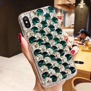 Image 2 - Etui na telefon xiaomi 10 9 MAX3 5X 6X Redmi 5 6 7 4A 6A 8A uwaga 4X 5A 7 6 8T 8 Pro luksusowe dżetów błyszczący pokrowiec pokrywa kryształ