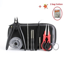 Mini Vape DIY Tool X9 Bag Tweezers Pliers Wire Heaters Kit Coil For Packing Electronic Cigarette Accessories e xy flat coil wire 120mm heating wire electronic cigarette 10pcs in a tube for vapor vape rda rta premade resistance wire