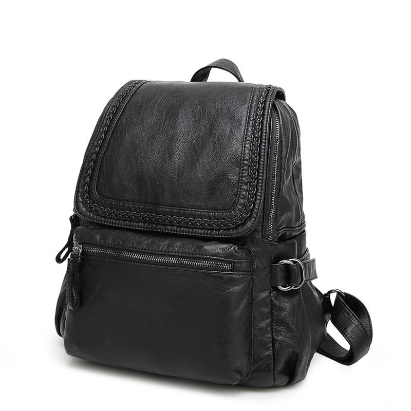 2018 New Women Multifunction Backpack Genuine Leather Casual Travel Back Pack Sling School Shoulder Bag for Girls Mochila C672