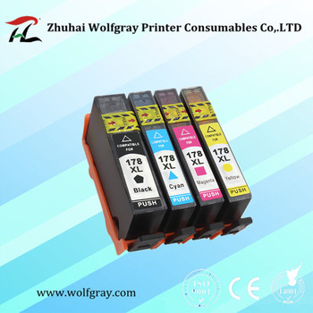 YI LE CAI 4PK compatible Ink Cartridge for HP 178 for HP178 178XL Photosmart 5510 5515 6510 7510 B109a B109n B110a Printer