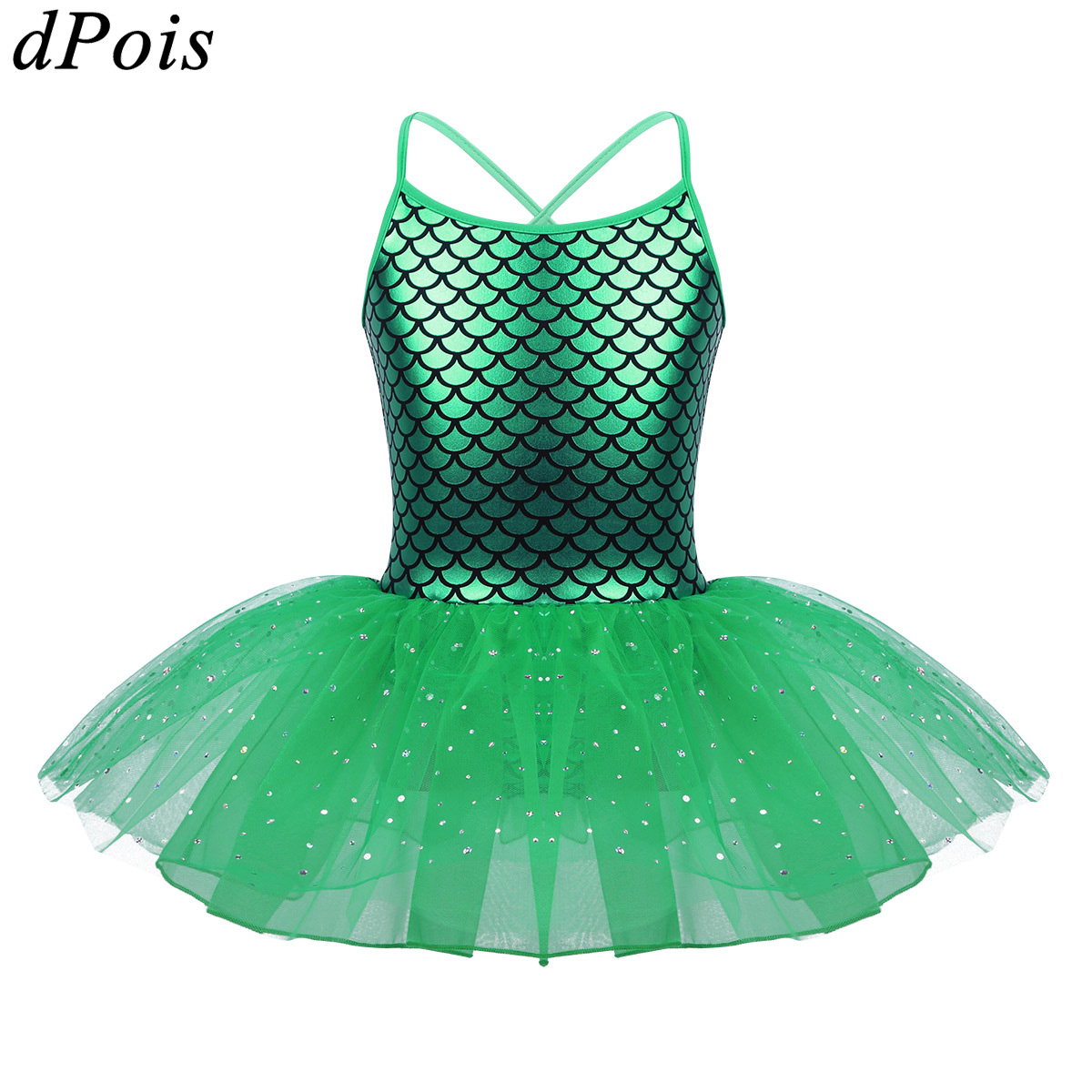 Child Girls Ballet Tutu Dance Dress Gymnastics Leotard Mermaid Dancewear Costume