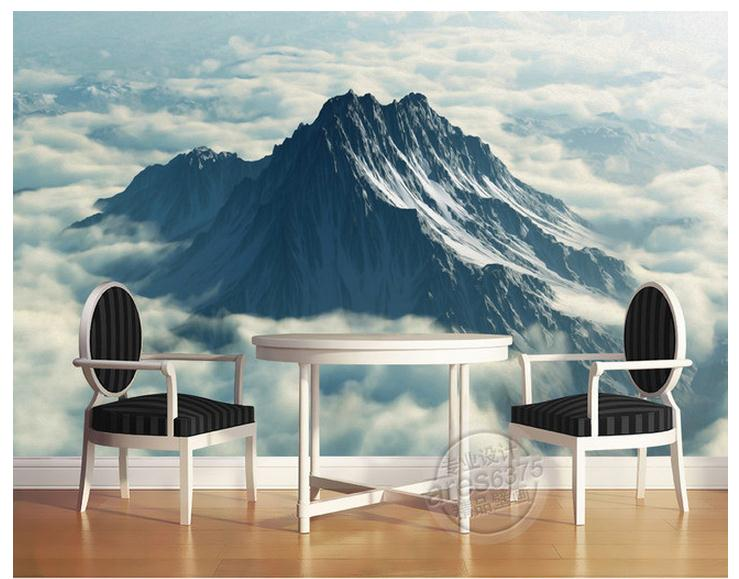 3d photo wallpaper custom room mural non-woven wall sticker oil painting texture hight mountain painting 3d wall mural wallpaper 3d wallpaper custom mural non woven wall sticker black and white wood road snow tv setting wall painting photo wallpaper for 3d