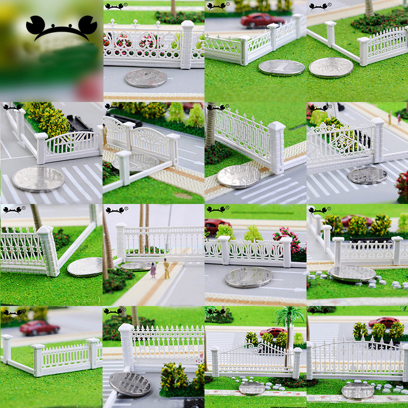 NEW 1:100 1:200 Model Train Railway Building Fence Wall HO Z Scale 100cm Length