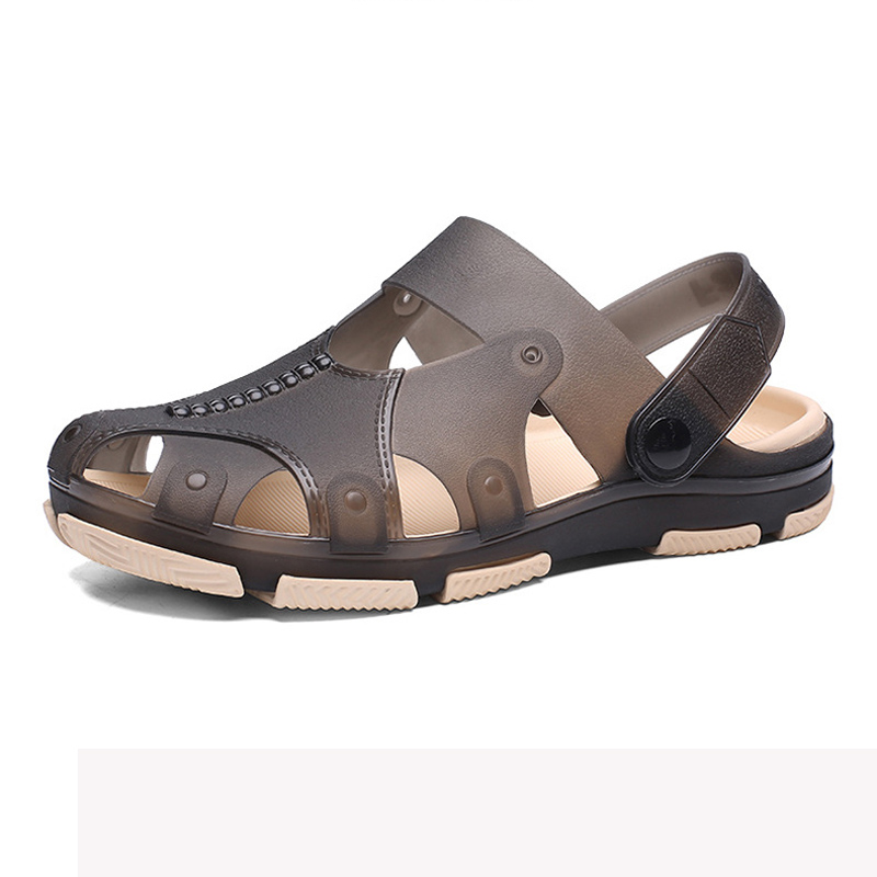 Sandals Men Clogs Garden Shoes Plastic Shoes Rubber Clogs Hollow Jelly Beach Shoes Pool Sandals Slippers Sports Hiking Sandals