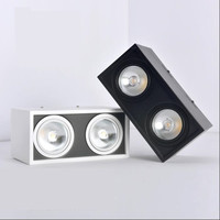 LED surface downlight AC85 265V 3w/5w/7w/10w/12w/15w/20w/30w for hotels offices shopping malls COB spot lights