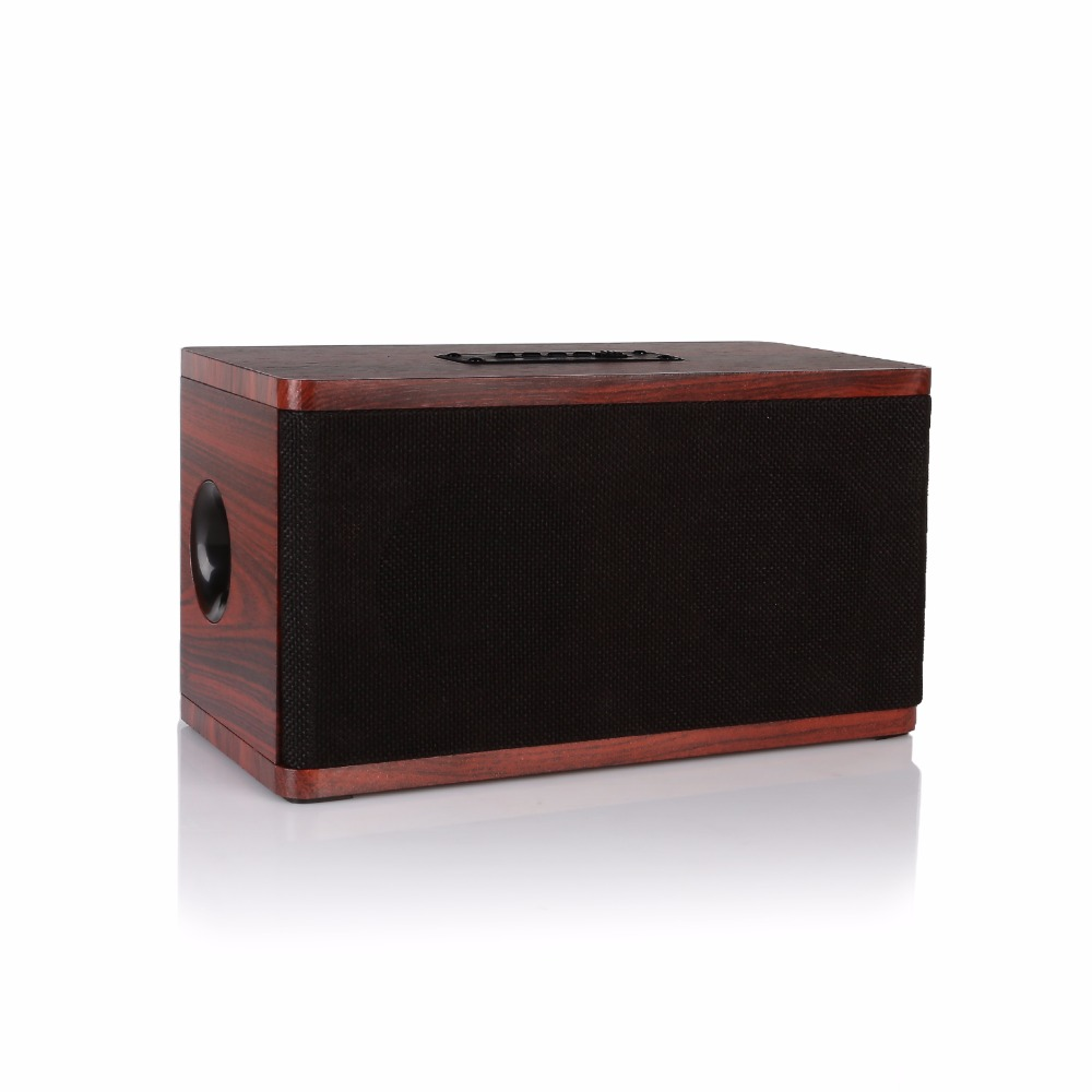 Wireless Bluetooth 4.0 Wooden Speaker FM Radio 10W Dual Loudspeaker Shock Bass Hi-Fi Sound Stereo Wood Cloth support kubei 290 wireless bluetooth v3 0 speaker w fm radio black
