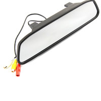 Hot Sell 5 Inch 800*480 Car Hd Display Rear View Mirror Monitor 2ch Video Input Parking Assistance for Rear View Camera