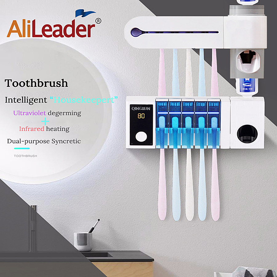 Family Toothbrush Sanitizer Autoclave Sterilizator Toothpaste Dental Dispenser Sanitizer Useful Holder Plastic Cleaner Sterilize image