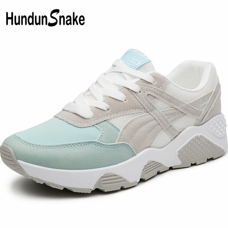 Hundunsnake Summer Women Running Shoes Women's Sneakers Sports Woman Sport Shoe Female Breathable Chaussure Femme Blue Gym B-054