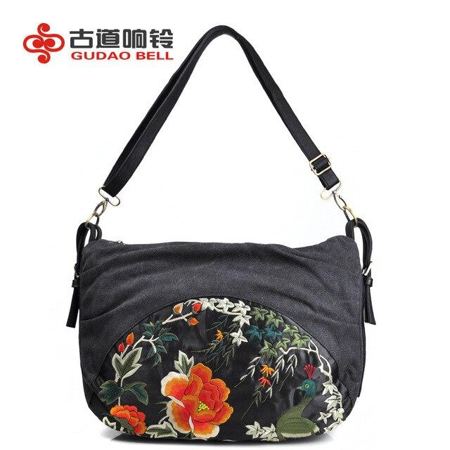 9ba13de59e Ethniques sacs messenger Broderie sac femmes sac d'épaule incliné de toile  en gros et