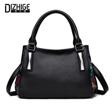 DIZHIGE Brand Elegant PU Women Handbag High Quality Crossbody Bag For Large Capacity Rivet Patchwork Shoulder Tote New