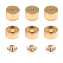 1 Set Golden Metal Trumpet Valve Finger Buttons Trumpet Repairing Parts Musical Instrument Accessories for Trumpet цены