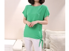 New arrival 100% silk female round neck short sleeve shirt silk T-shirt Silk sexy vest with small vest-b143