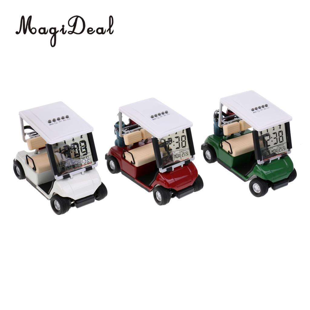 MagiDeal LCD Display Mini Golf Cart Clock Race Souvenir Novelty Golf Gift Send In Random Color