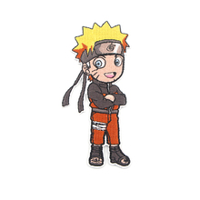 K209 NARUTO Cartoon Embroidered patches iron on Sewing popular for hat bag shoes Applique embroideried accessories