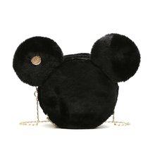 Новая мода Дизайн Для женщин Микки формы плюшевые мешок милый забавный Для женщин вечерняя сумочка; BS010 клатч цепочка для сумки Сумка