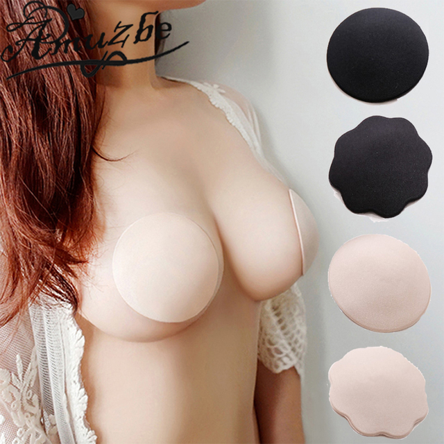45f4fe1ee2eb6 Aumzbe Breast Petals Silicone Bras Adhesive Gel Sticky Bra Invisible Bra  Stickers Sexy Nipple Pasties Nipple Covers