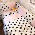 3cps/set 100% хлопок Hot детское Постельное Белье комплект включает наволочка плоский лист пододеяльник розовый синий и Горошек