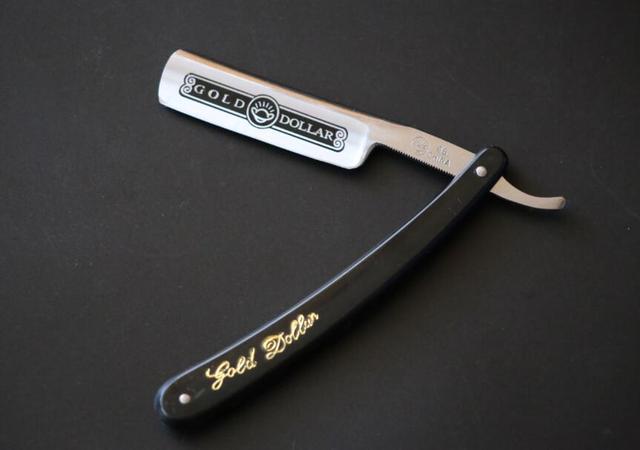 Qualidade superior Em Linha Reta Borda Cabelo Shaper Barber Navalha Folding Barbear Faca de Aço Inoxidável