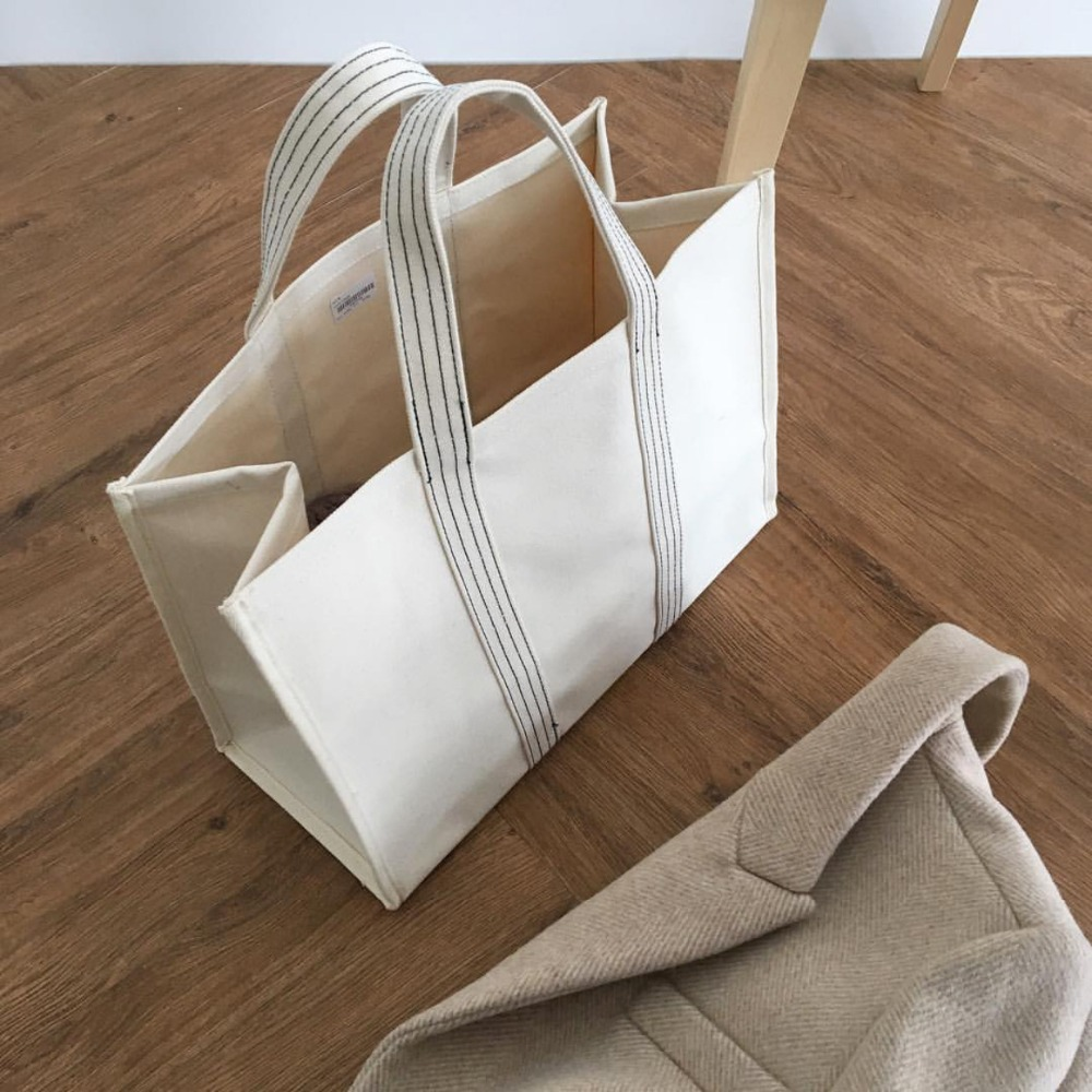 Image 2 - 2019 Luxury Brand Bag Fashion Canvas Bags Shopping Handbags Lady Women Girl Large Size Handbag Brands Casual Tote Shoulder-in Top-Handle Bags from Luggage & Bags