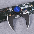 DC Comics Batman Arkham Knight Batarang Replica Action Figure with Light Collectible Model Toy