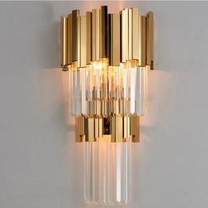Image 2 - Phube applique murale en cristal Post moderne, lampe murale de luxe, créative, chaude, pour couloir, chambre à coucher, chevet
