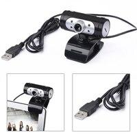 Высокое разрешение 1280*720 720 P 4 светодиодные HD Веб-камеры веб-Камера с Ночные светильники для компьютера Встроенный цифровой микрофон