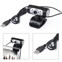 High Definition 1280 720 720p Pixel 4 LED HD Webcams Web Cam Camera With Night Lights