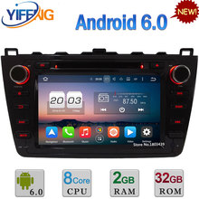 "8 ""Octa Core Android 6.0 2 GB RAM 32 GB ROM 3G/4G WIFI DAB + DVD del coche de Radio Multimedia Dvd GPS Para Mazda 6 Ruiyi Ultra 2008-2012"