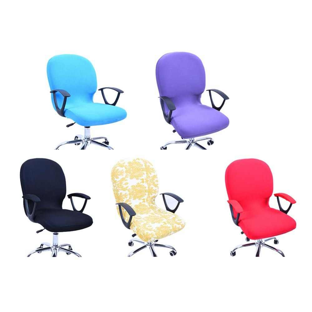 Elasticity Office Computer Chair Cover Side Arm Chair Cover Couvre Chaise Stretch Rotating Lift Chair Cover Without Chair Arm