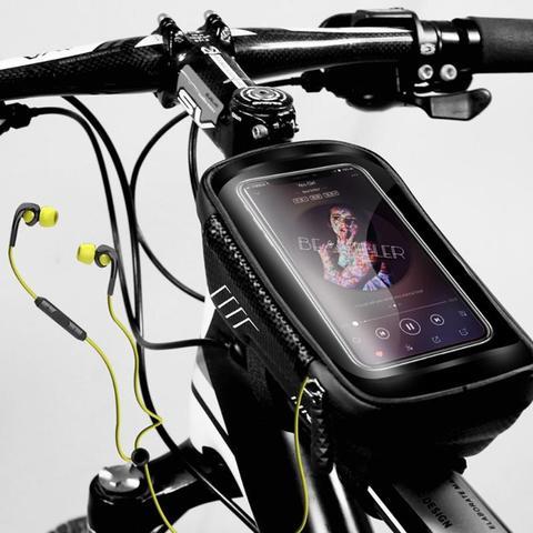 WILD MAN Mountain Bike Bag Rainproof Waterproof Mtb Front Bag 6.2inch Mobile Phone Case Bicycle Top Tube Bag Cycling Accessories Islamabad