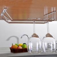 Under Cabinet Wall Wine Rack Storage Organizer Stainless Steel Wine Glass Holder Stemware Racks