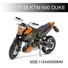 Maisto 1:18 Motorcycle Model KTM 690 DUKE Model bike Alloy Motorcycle Model Motor Bike Miniature Race Toy For Gift Collection цена 2017