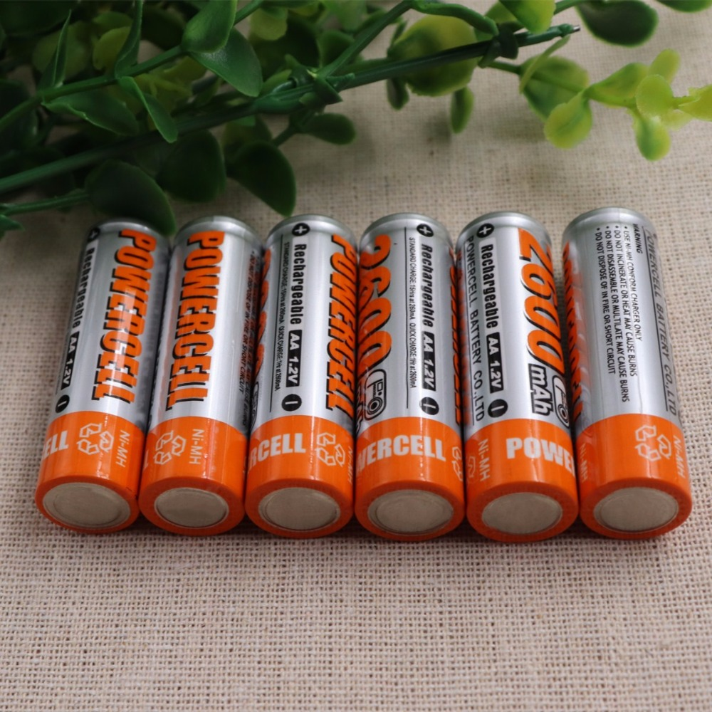 New 12PCS AA Battery Batteries 1.2V AA 2600mAh Ni-MH Rechargeable Battery Pre-Charged nimh Baterias for Camer Razor