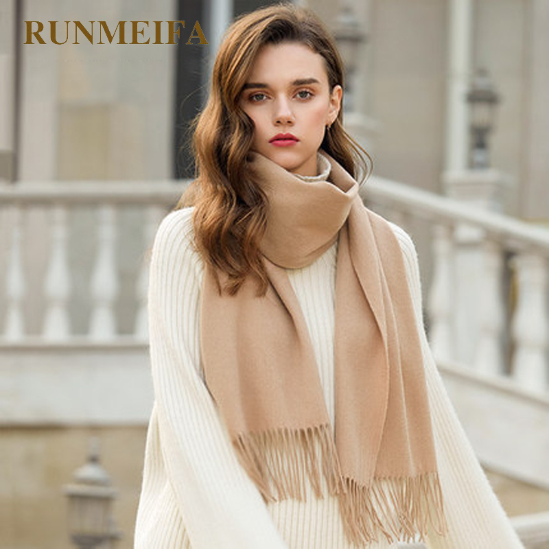 [RUNMEIFA] Amazing Brand New Fashion Solid Color yellow Women Scarves newest Scarf Shawl Neck Warmer