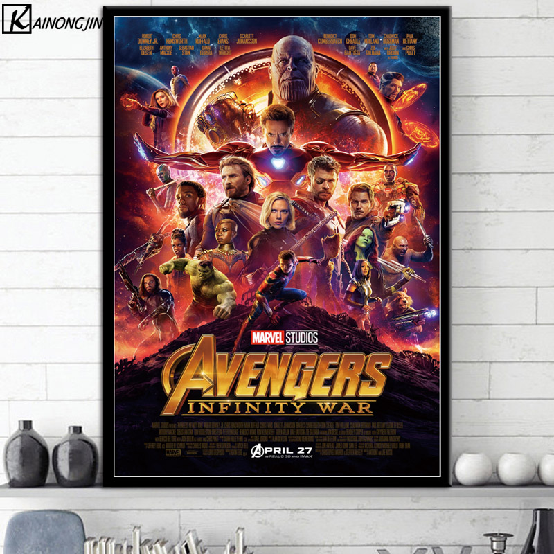 New 22 Marvel Cinematic Universe COLLAGE Movie Poster Avengers EndGame Wall  Art Canvas Painting Posters and Prints Home Decor